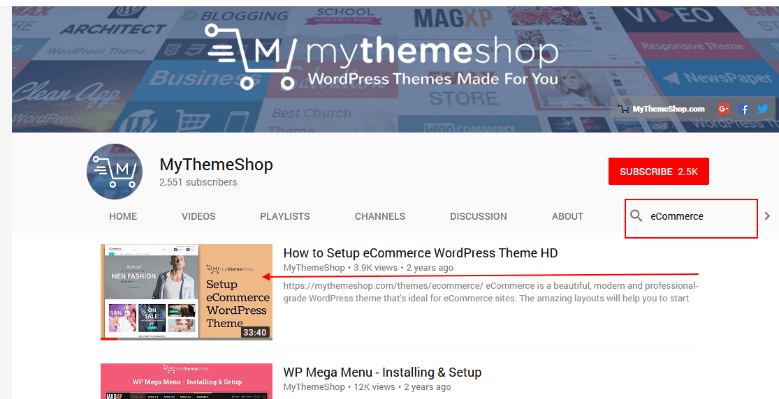 Video Hướng dẫn MyThemeShop eCommerce